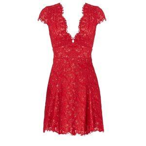 Stylestalker Red Lace Dress
